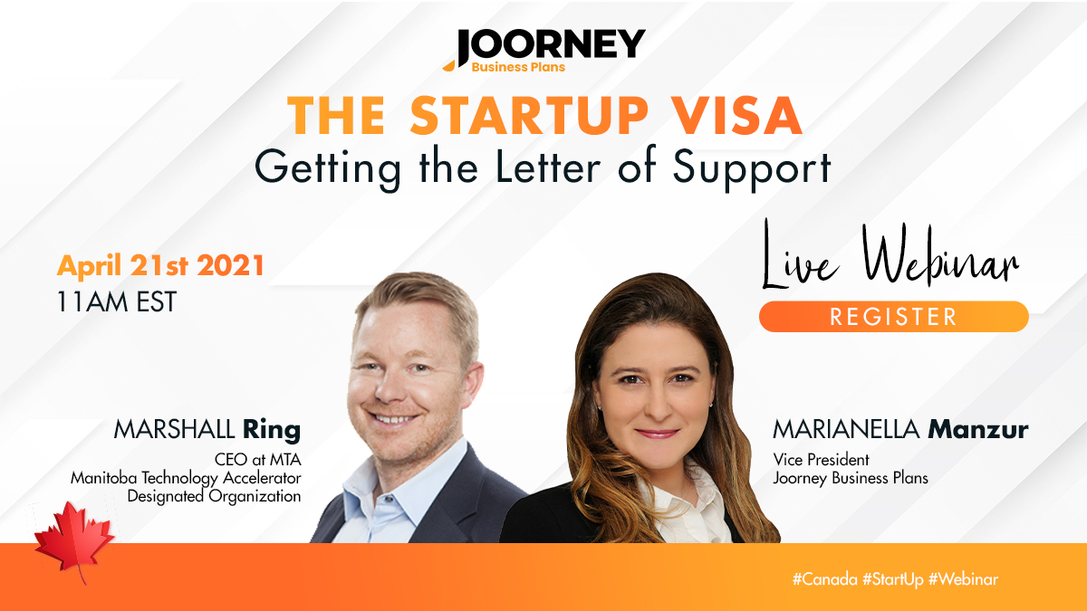 Webinar - StartUp Visa Getting the Letter of Support